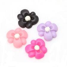 150x Multicolor Flower Shape Resin Flatback Stick-on Handmade Flatback Craft J