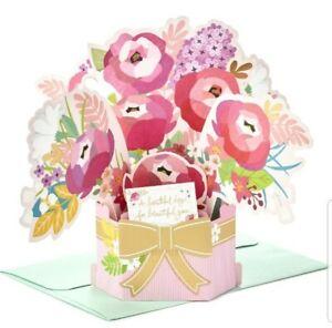 Hallmark Paper Wonder Pop Up Birthday Card Flower Bouquet