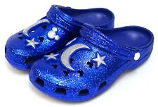 NEW Disney Parks X Crocs Classic Sorcerer Mickey Make A Wish Blue Glitter Shoe