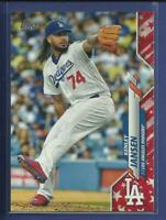 Kenley Jansen 2020 Topps Series 1 INDEPENDENCE DAY #'d / 76 Los Angeles Dodgers