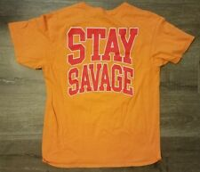Human Condition Orange Red STAY SAVAGE T-Shirt Size M