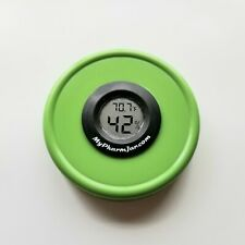 MyPharmLid Ball Wide Mouth Mason Jar Lid Built-In Hygrometer Herb Curing- GREEN
