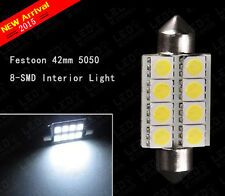 "1 4 20 100PCS 1.72"" Festoon 42mm 5050 8SMD 578 Map/Dome Interior LED Light bulbs"