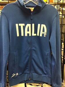 New Puma Full Zip Sweatshirt Royal Blue Italy National Soccer Team Size Women M
