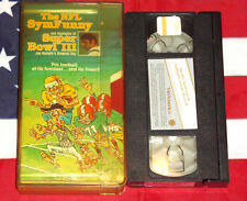The NFL SymFunny and Highlights of Super Bowl III Joe Namath VHS Video Rare Tape