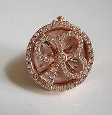 Rose Gold finish hip hop bling designer spinner ring watch