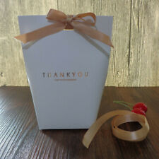 5 THANK YOU Bridesmaid Wedding White Gift Box Paper Bags Candy Box Favour Bags