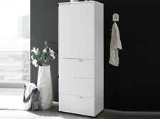 White Gloss Slim Storage Cabinet Unit Cupboard Drawers Tallboy Pantry Bathroom