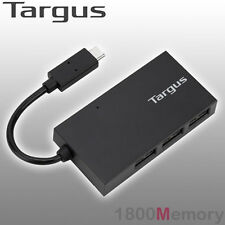 Targus 4 Port Mobile USB-C Hub Featuring 3 USB 3.0 Port and 1 USB C Port