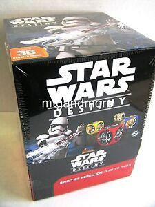 Star Wars Destiny Spirit of Rebellion Booster Display ENGLISCH + 3 Promo Karten