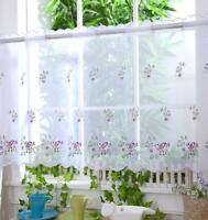 "Voile Cafe Net Curtain Panel ~ D19 GARDEN BIRDS ~ 12"" & 18"" * 24"" Drop"