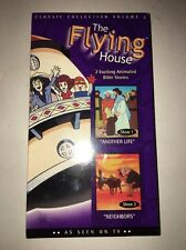 The Flying House-2 Exciting Animated Bible Stories-VHS VERY RARE COLLECTIBLE VIN