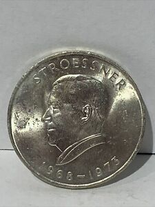 1973 REPUBLIC OF PARAGUAY 300 GUARANIES PRESIDENT STROESSNER 720 SILVER COIN #29