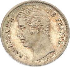 O4585 RARE 1/4 Franc Charles X 1828 A Paris Argent FDC ->F offre