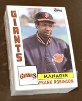 50) FRANK ROBINSON San Francisco Giants 1984 Topps Baseball Card #171 LOT