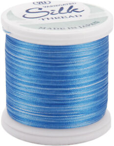 Silk Variegated Thread Yli 202V2-05V 200M Blue