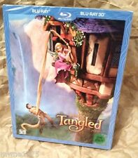 Walt Disney TANGLED 3D Blu-Ray KOREA Exclusive Full Slipcover STEELBOOK RARE OOP
