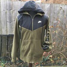 Nike Mens Sportswear Just Do It zip Top Hoodie Jacket Green Khaki Black Medium M