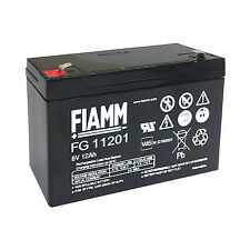 Fiamm FG11201 Batteria al piombo ricaricabile 6V 12Ah ideale per PEG PEREGO