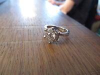 Wunderschöner 925 Silber Ring Zirkonia Entourage Pavee Wie Diamant Luxus Edel