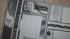 "Two-Page 12x12 Premade Scrapbook Pages ~ ""Over the Hill"" Birthday Layout"