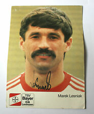 MAREK LESNIAK Bayer Leverkusen/Poland Signed/Autographed Football Card