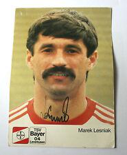 MAREK LESNIAK Bayer Leverkusen/Poland Signed/Autographed Football Card