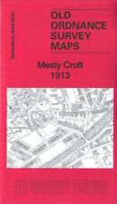 OLD ORDNANCE SURVEY MAP WEDNESBURY MESTY CROFT 1913
