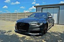 Cup Spoilerlippe für Audi A6 4G Lippe Front Diffusor Ansatz schwert vorn Spoiler