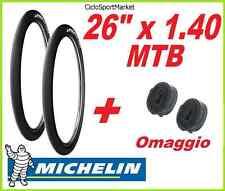 2 x Copertoni 26 x 1.40 SLICK MICHELIN Wild Run'R bici MTB + 2 x CAMERA D'ARIA