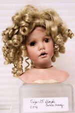 Doll Wig Size 15 Tallina's Style DF4 Many Tight Blond Curls