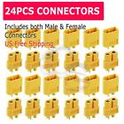 24Pcs XT60 Male Female Bullet Connectors Plugs For RC Battery From US Warehouse