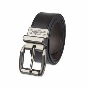 Levi's Men's Reversible 40 MM Single Stitch Casual Leather Belt Black-Brown