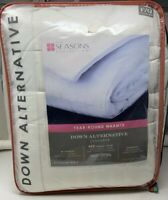 The Seasons Collection Luxury 400TC Year Round Down Alt Full Queen Comforter