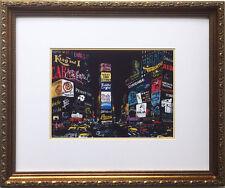 "LeRoy Neiman ""Times Square 2001"" FRAMED Art print NYC New York City BROADWAY"