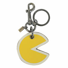 NEW Coach PAC-MAN Key Chain Fob Bag Charm In Yellow 56751