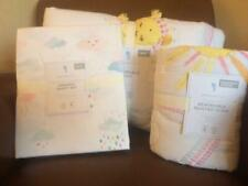 POTTERY BARN KIDS Sunshine Reversible Twin Quilt Sham & Rainbow Twin Sheets NEW
