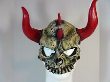DEVIL SKULL HALF LATEX MASK HALLOWEEN HORROR COSPLAY
