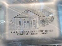 Vintage J&L Jones & Laughlin Service Dept. Employees Fed. Credit Trinket Tray