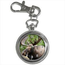 Canadian Moose Pocket Watch Keychain