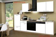 Küche ohne Elektrogeräte Küchenzeile ohne Geräte Einbauküche 280 cm weiss