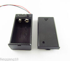 """9V 9 Volt Battery Holder Box Cover with ON/OFF Switch Pack Power Toggle 6"""" Lead"""