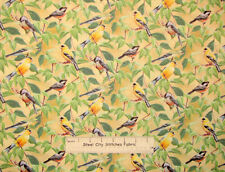 Fruit Of The Vine Finches And Chickadees Yellow Birds CP45577 Cotton Fabric YARD
