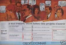PUBLICITÉ CRÉDIT LYONNAIS À TOUT INSTANT VOUS FAITES DES PROJETS D'AVENIR