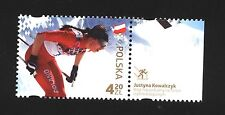 MNH stamp Justyna Kowalczyk - gold medalist - Sochi 2014 skiing cross Country
