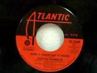 """ARETHA FRANKLIN """"SING IT AGAIN SAY IT AGAIN"""" 45"""