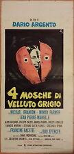 Poster Locandina QUATTRO MOSCHE DI VELLUTO GRIGIO Argento - Brandon Farmer
