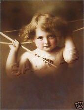 VICTORIAN ~ CUPID AWAKE ~ 1897 MB PARKINSON CANVAS ART