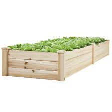 Wooden Frame Raised Flower Garden Vegetable Bed Fruit Cedar Gardening Outdoor