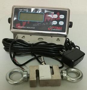 Crane Scale 1000 lb x 0.1 lb, S type Load cell 1000 lb,Digital Indicator,NEW